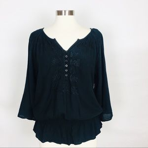 JENNIFER AND GRACE | Embroidered Tunic Blouse